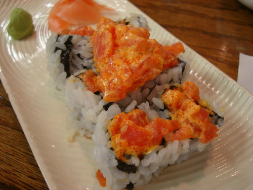 Some much needed lunch. Spicy Tuna Roll. I haven't had Maru in SO long but finally got to go yesterday with Jon and Myreon for their lunch time specials! >_< SO GOOD. Instead of ordering my usual spicy salmon roll, I got the spicy tuna roll, which was equally delicious. Maru. East Brunswick, New Jersey