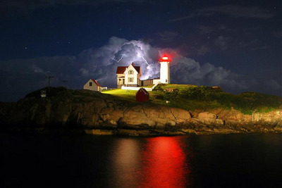 Nubble Lightning, 19 Jul 2010 • 9:55 PM  Cape Neddick, Maine, USA  © photos_by_ish