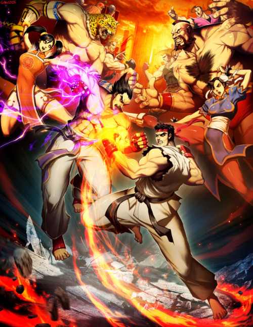 gamefreaksnz:  Capcom VS Namco by *GENZOMAN on deviantART