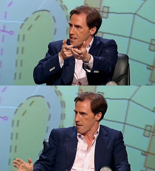 "fuckyeahqi:  whitepajamas:  [On GPS navigators.] Rob Brydon: I have a gun sight! You know, a telescopic gun sight. I don't know what message that is sending out. When you get to your destination, there's a gun sight! So, ""You have reached your destination, now slaughter the families""."