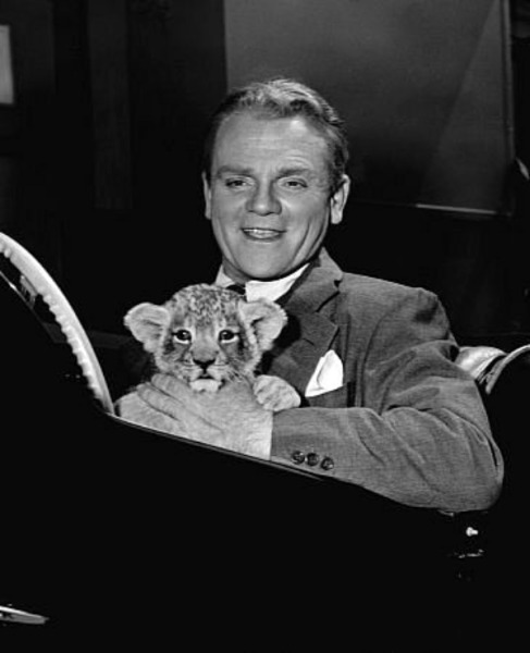 James Cagney with a furry friend