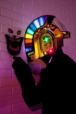 Daft Punk Helmet   It took a man 17 months of hard work and a divorce to complete this. More details on his blog