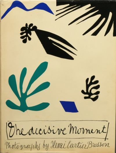 lovesx2…can't wait for next Moma trip to see Matisse exhibit!! catherinewillis:  theshipthatflew:  Henri Cartier-Bresson, The Decisive Moment, American edition, dust jacket designed by Henri Matisse, New York: Simon & Schuster, 1952 (source)