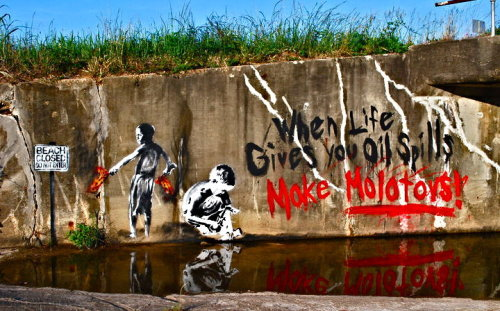 thesociologist:  (via popnihilism:redguard) Not a Banksy, this one is by Priest. Sir, Preach!