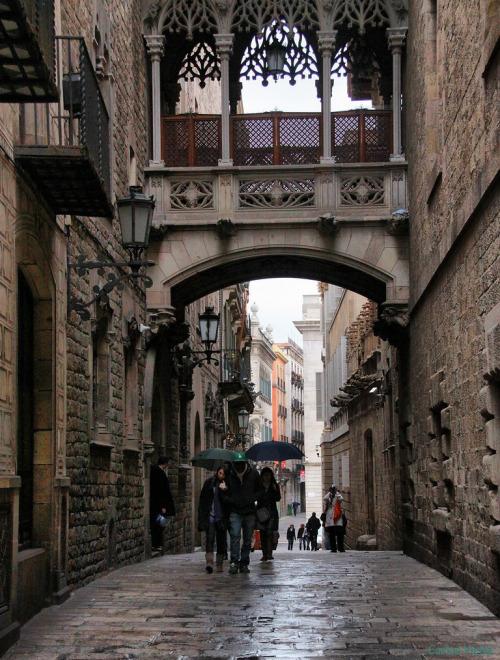 Carrer del Bisbe, Gothic Quarter, Barcelona, Spain © Carlos Vieira