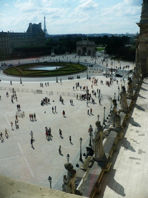View from a window of the Musée du Louvre, Paris, France. Taken by myself! http://salvationarmytomorrowbill.tumblr.com - thanks!