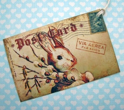 french post card. RABBITS. [via: jolipapier]