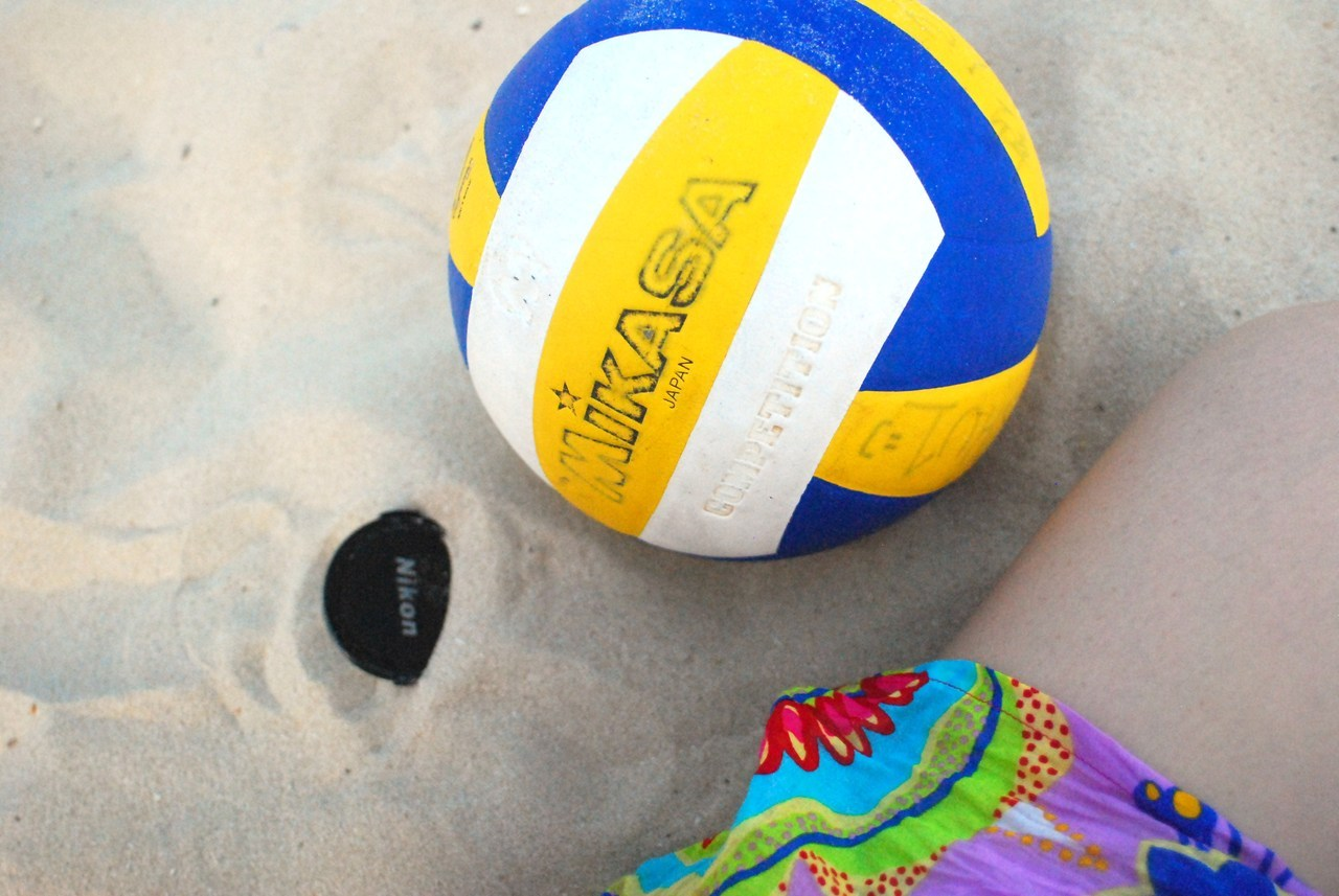 summer, beach and volleyball yea, like i could play