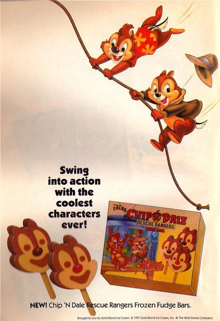 Chip 'n Dale ice cream (1991)