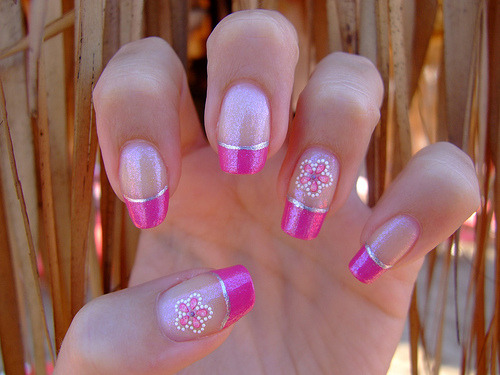 sumer pink nails by:agapo86