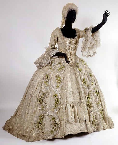 Dress from Richard Strauss's opera Der Rosenkavalier. Designed by David Walker, 1975.