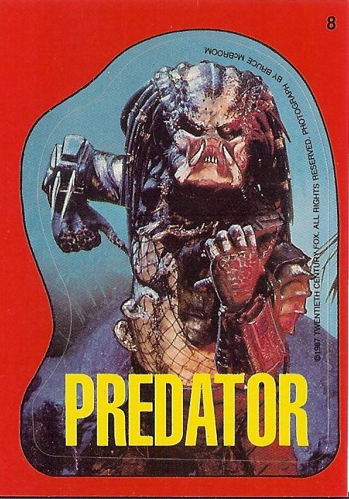Predator sticker trading card Submitted by punksontv