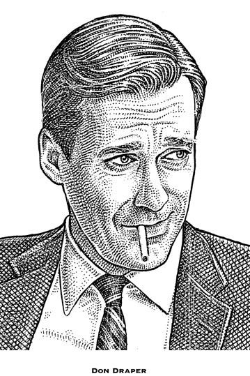 putthison:  Don Draper, as he would be rendered by The Wall Street Journal.