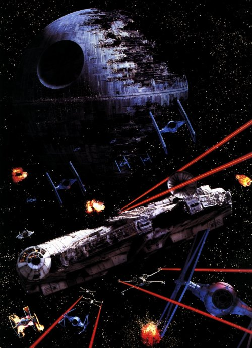 scienceetfiction:  boba-fettish:  The Battle of Endor (via jackaraia, starwarslover)
