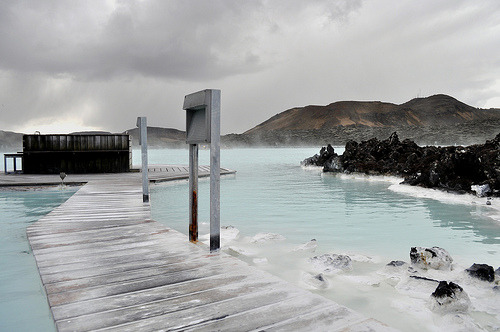 Blue Lagoon, Iceland (via) Just came across this on Flickr's blog. Gorgeous shot.