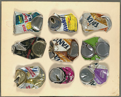 Walker Evans Crushed Cans Assemblage 1970