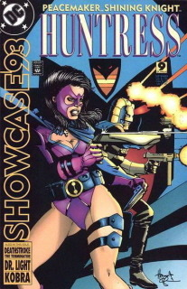 "Huntress in Showcase '93 #9 ""Survival"" written by Doug Moench with art by Bill Willingham."