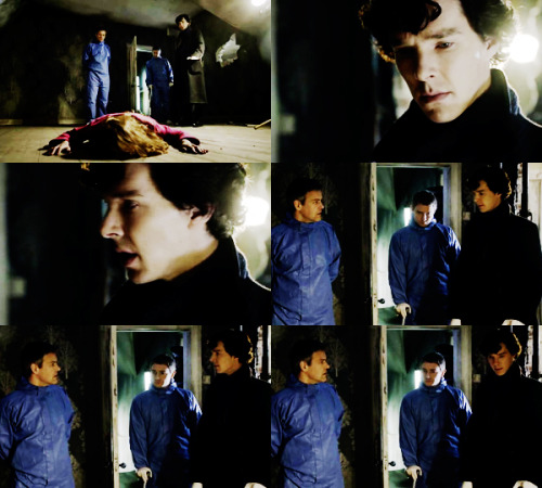 fuckyeahtvpicspam:   [They all look at the body]Sherlock: [to Lestrade] Shut up.Inspector Lestrade: I didn't say anything!Sherlock: You were thinking. It's annoying.  Sherlock 1.01 (via lizzymaxia : illbethereforu)