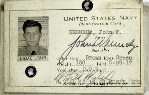 kennedys:   John F. Kennedy, age 26: Round-Robin Letter[Postmarked August 13th,  1943]Dear folks, This is just a short note to tell you that I  am alive - and not kicking - in spite of the many reports that you may  happen to hear. It was believed otherwise for a few days - so reports or  rumours may have gotten back to you. Fortunately, they misjudged the  durability of a Kennedy - and am back at the base now and am O.K. As  soon as possible I shall try to give you the whole story. *Much love  to you all, Jack *A few days earlier, Motortorpedo Squadron  2 had held a funeral mass for Jack and his crew, whom they believed to  have died when the Japanese destroyer Amagiri plowed through the hull of  PT  109 in the early morning hours of August  2nd. Although the Navy Department had notified Joseph P. Kennedy during  the course of the week that Jack was missing in action, he believe that  Jack was still alive and did not inform his family  until after  Jack and the surviving crew  members had been rescued on August 7th.