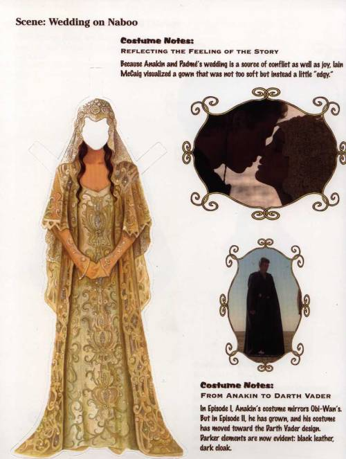 Anakin & Padme's Wedding -Padme Paper Doll Book