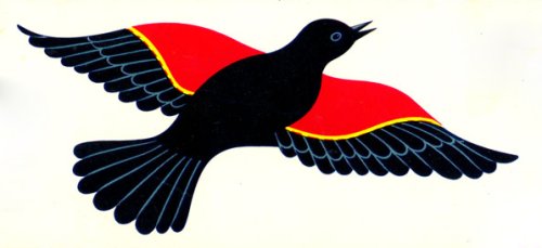 freakyfauna:  Red Wing From a fruit crate label.