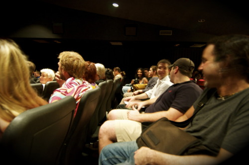 The audience @ the screening of 'Another Time, Another Pace'.