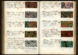 Recipe book for decorated paper Germany, late nineteenth century. Found at Koninklijke Bibliotheek.