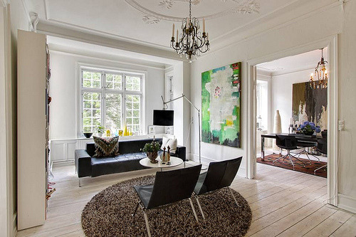 prettyspace:  Copenhagen living room (by J. E. N.)