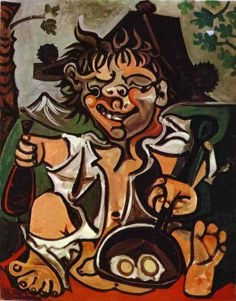 Cookin' Up Some Eggs On My Ballsack. Lovin' It. Pablo Picasso 1959 Oil on canvas Submitted by Ben Warheit (For info on contributing a new title to old art email me)