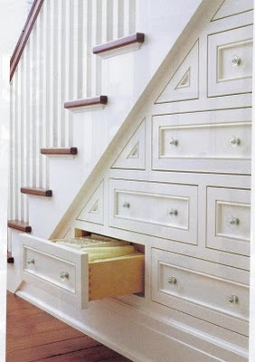 fromgreenwich:  househuntinginparis:  great idea for under the stairs storage