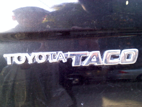 """Toyota Taco"" Not gonna front… seriously thought this was for real when I first saw it parked on the street."