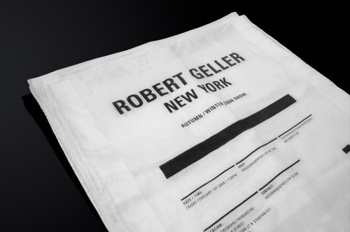 Robert Geller by studio NewWork