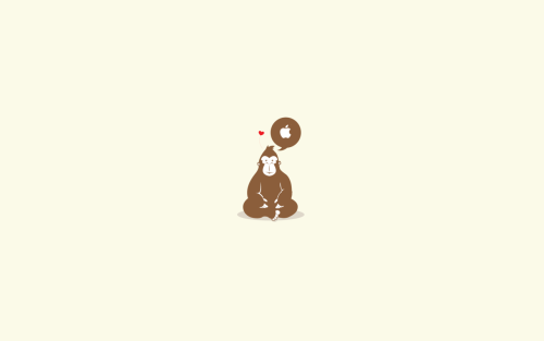 minimalmac:  mnmal:  via Simple Desktops  Cute. Simple Desktops is a great source for more stuff like this too. Check it out.  (via mnmal)