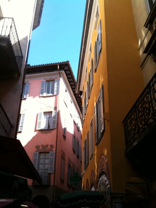 The beautiful streets of Lugano