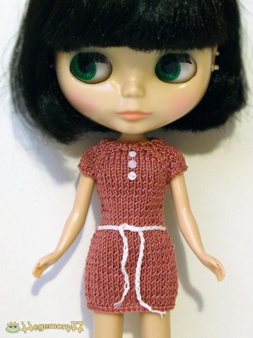 Cute little dress with belt and tiny buttons