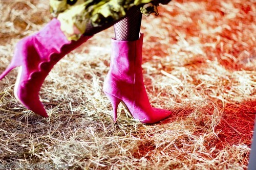 Shoes of the day: Pink boots
