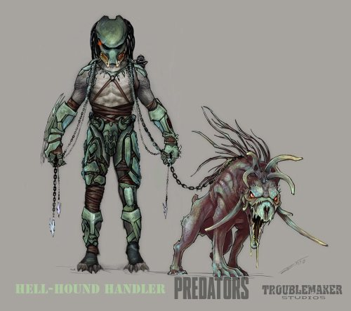 Predator and predadog concept art by Alex Toader