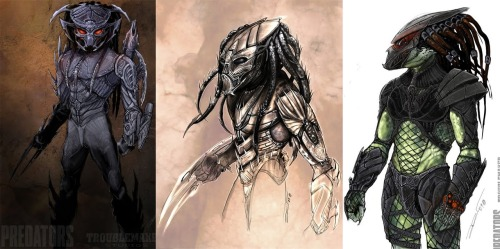 Predators concept art by Alex Toader These are pretty sweet; I kind of wished they had used more of this approach in the film Click for hi-res