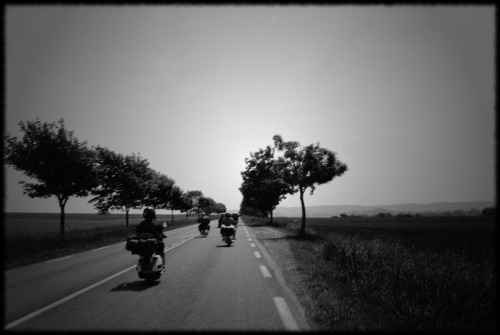 Photo: Vespas on the road, by http://www.flickr.com/photos/milesdavissmiley/