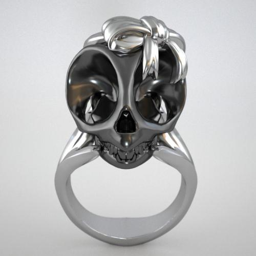 Skull Ring by Violet Darkling