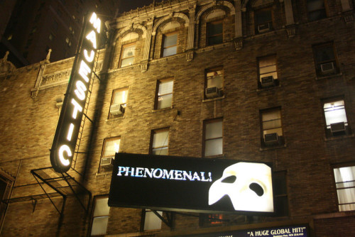Majestic Theater, home of The Phantom of the Opera on Broadway - October 31, 2009