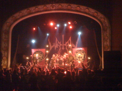 Watain Torontro, ON The Opera House Octobter 3, 2008 My Birthday and first show day of tour.
