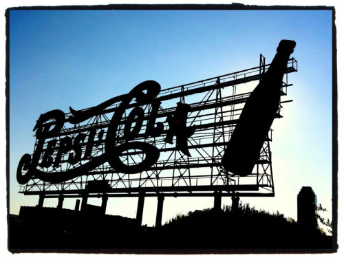 Pepsi-Cola sign along the East River, Hunters Point, Long  Island City, Queens, NYC 07.31.10 - I prefer diet Coke but I've always wanted to see this sign up close - via my morning ride.