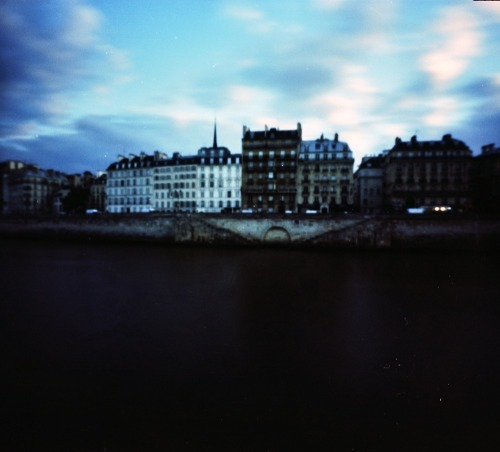 Pinhole: Paris at Dusk | Cross Processed Fujichrome Provia 100F