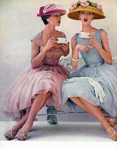 yehyehgrace:  atompunk:  kimckwn:  1956 Coffee Talk (by myvintagevogue)