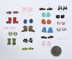 ADVENTURES IN TINY PAPER: PART 2 The shoes for Paper Town Friends.