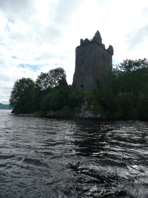 Day 352 of 365 (29 Jul 2010) - Urquhart Castle from Loch Ness It was well worth taking a cruise on the Nessie Hunter to see the Loch close up and indeed Urquhart Castle from the water. - by zawtowers