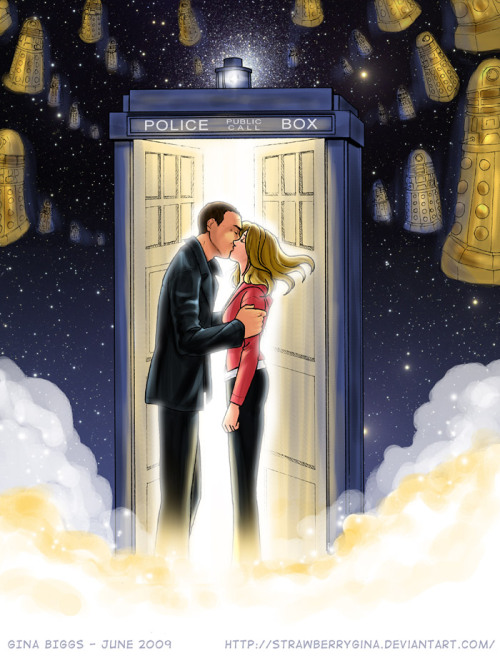 tardisadventures:  fyeahdaleks:  ixowa:  Doctor Who - Parting of Ways by *strawberrygina