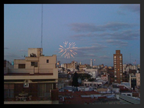 Fireworks for my last night in Buenos Aires.