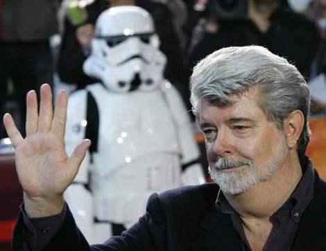 George Lucas doesn't test if he has cancer by seeing if his hand is bigger than his face. He sees if it is bigger than his neck. George Lucas is still a healthy man.